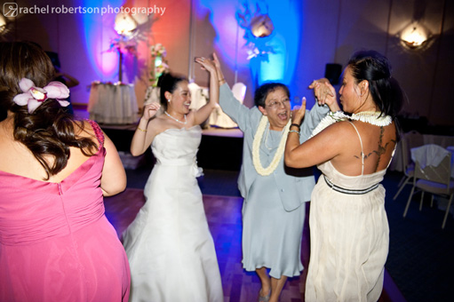 bride and mom on the dance floor
