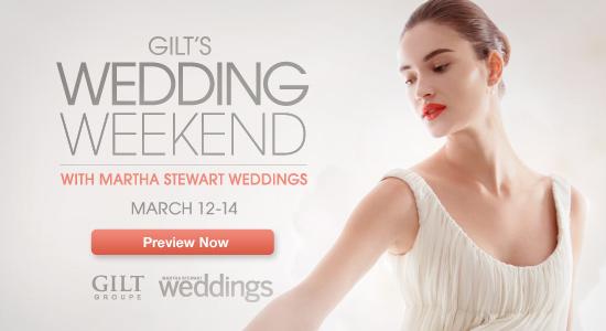 Gilt Groupe Wedding Sale Weekend