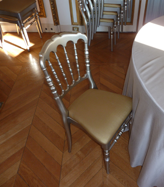 Hotel Crillon chairs a wedding venue for a Paris destination wedding