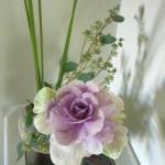 Cabbage ikebana arrangement floral petals