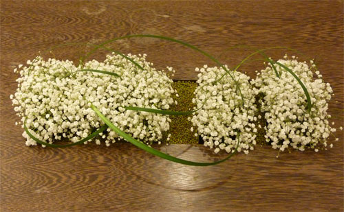 Babys Breath Hawaii Ikebana arrangement at Neiman Marcus