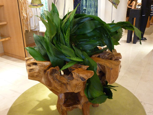 Flowing Leaves Hawaii Ikebana arrangement at Neiman Marcus