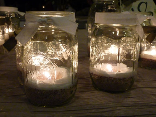 Ball Jar Candles at a Green Wedding in Hawaii by Destination Wedding Planner, Mango Muse Events