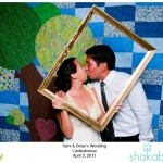 Shakabooth Photobooth Photo at a Green Wedding in Hawaii by Destination Wedding Planner, Mango Muse Events