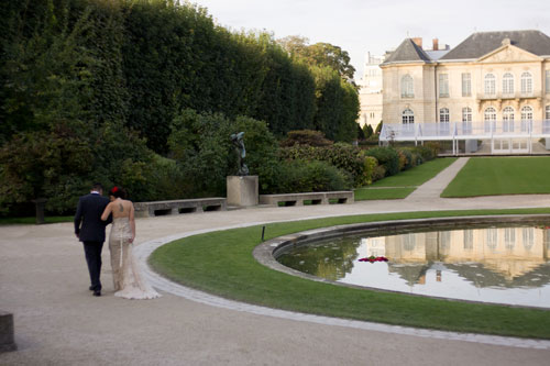 Paris wedding at the Rodin Museum by destination wedding planner, Mango Muse Events