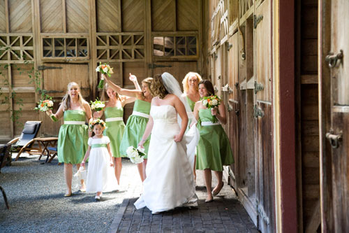 Soft green bridesmaid dresses for Green wedding inspiration by Destination wedding planner, Mango Muse Events