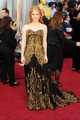 Jessica Chastain 2012 Oscar wedding inspiration from Destination wedding planner, Mango Muse Events