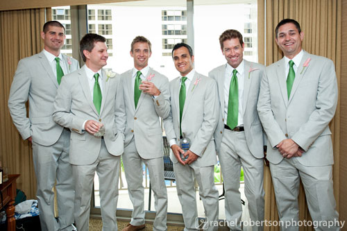 Kelly green ties for Green wedding inspiration by Destination wedding planner, Mango Muse Events
