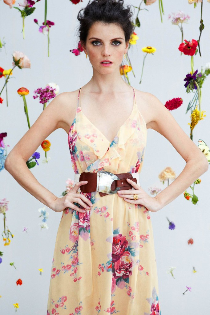 Peach flower dress Easter color inspiration by Destination wedding planner, Mango Muse Events