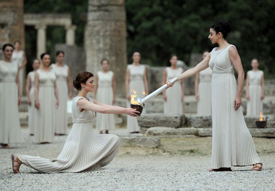 Olympics Greece Torch Lighting