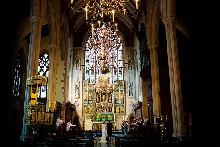 Church wedding at a London destination wedding shared by Destination wedding planner, Mango Muse Events