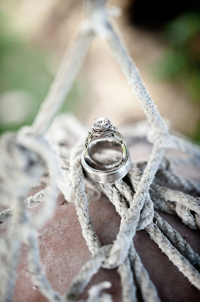 Wedding rings for a Hawaii destination wedding on Style Me Pretty by Destination wedding planner, Mango Muse Events