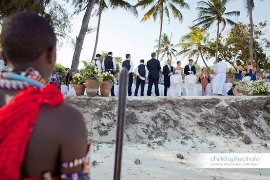 Beach wedding in Kenya at a Kenya destination wedding shared by Destination wedding planner, Mango Muse Events