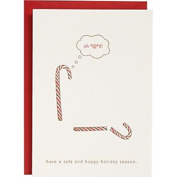 Candy cane holiday card Christmas party inspiration shared by Destination wedding planner Mango Muse Events
