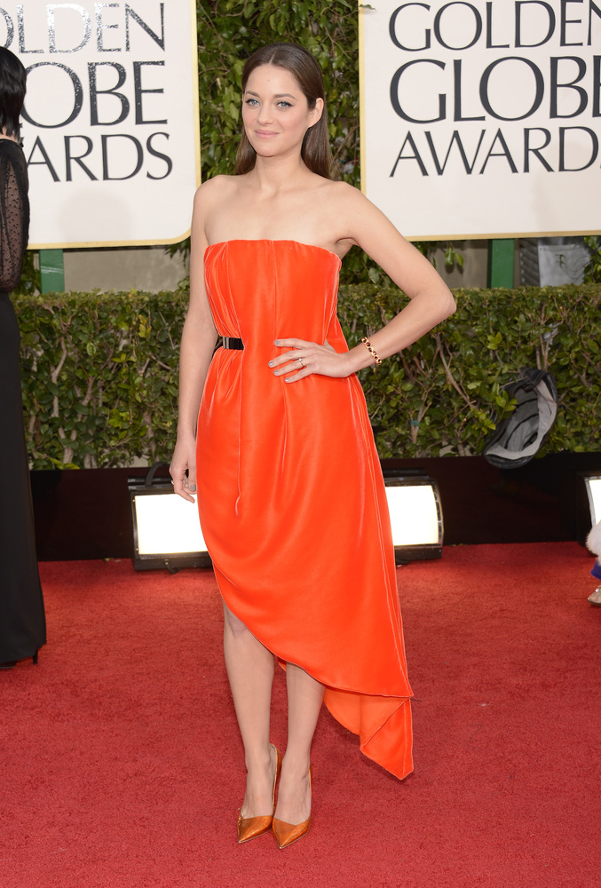 Marion Cotillard on the red carpet at the 2013 Golden Globes wedding inspiration by Destination wedding planner Mango Muse Events