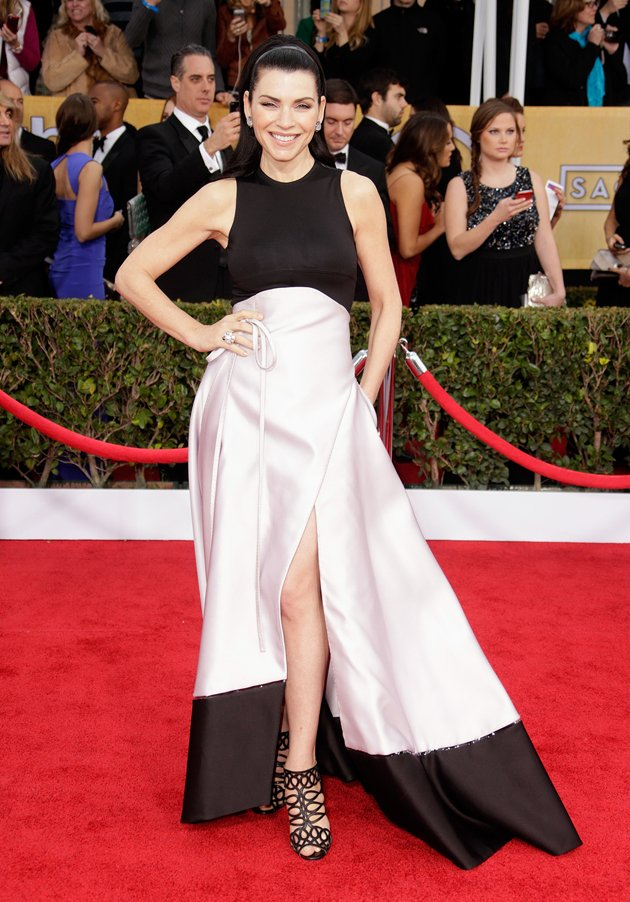 Julianna Margulies on the red carpet at the 2013 SAG Awards wedding fashion inspiration by Destination wedding planner Mango Muse Events