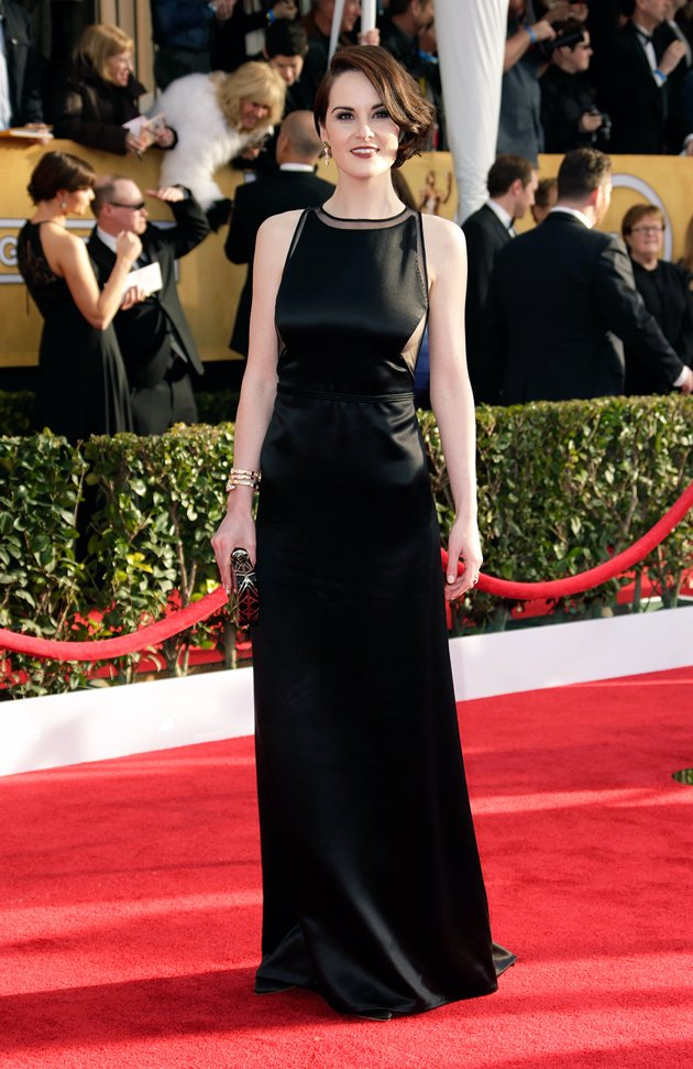 Michelle Dockery on the red carpet at the 2013 SAG Awards wedding fashion inspiration by Destination wedding planner Mango Muse Events