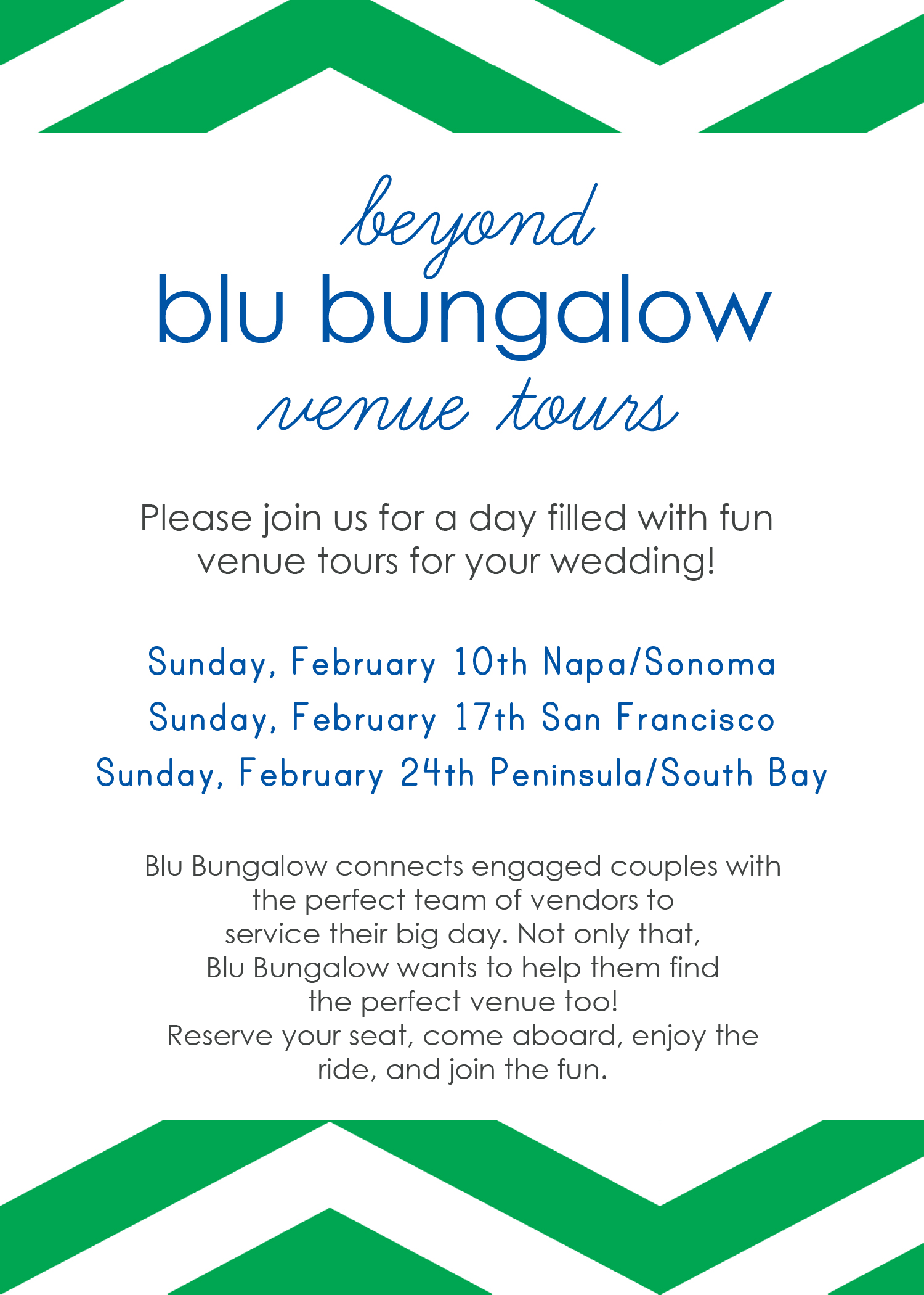 Beyond Blu Bungalow Venue Tours Peninsula tour hosted by Destination wedding planner Mango Muse Events