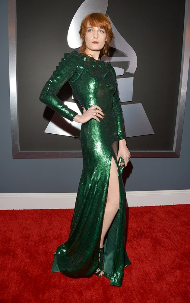 Florence on the red carpet at the 2013 Grammys wedding fashion inspiration picked by Destination wedding planner Mango Muse Events