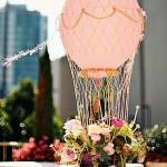 Mini hot air balloon centerpiece