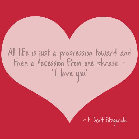 F. Scott Fitzgerald I love you quote