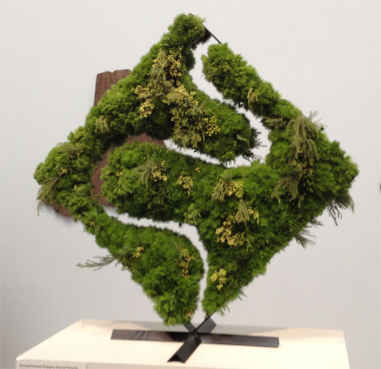 Moss maze shapes piece at the 2013 Bouquets to Arts exhibit at the De Young Museum in San Francisco favorite picks by Destination wedding planner Mango Muse Events