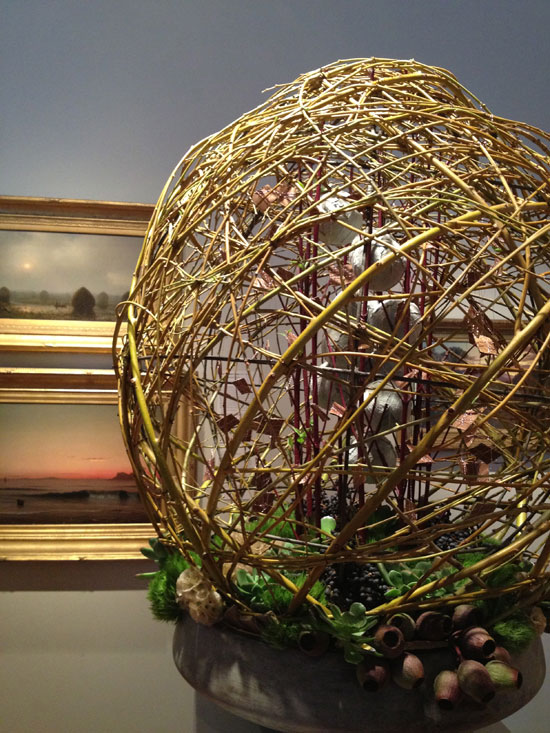 Weaving ball at the 2013 Bouquets to Arts exhibit at the De Young Museum in San Francisco favorite picks by Destination wedding planner Mango Muse Events