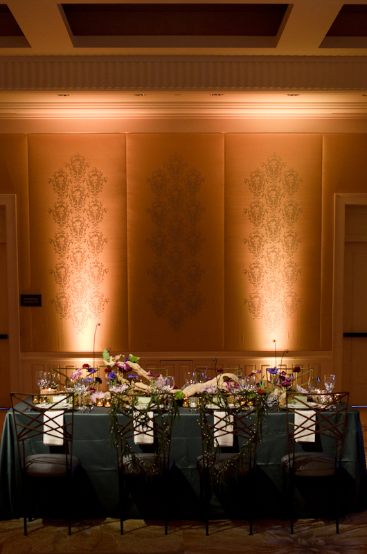 Fairytale wedding table design at the Rosewood SandHill created for the Beyond Blu Bungalow Venue Tours by Destination wedding planner Mango Muse Events