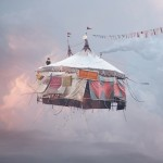 Flying tent house