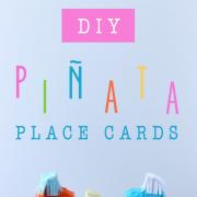 DIY Piñata place card instructions