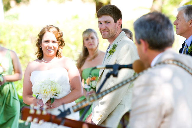 Father daughter moment of a father singing at the wedding ceremony of a wine country destination wedding by Destination wedding planner Mango Muse Events