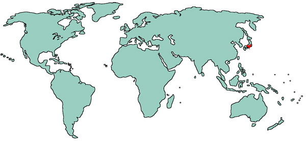 World map showing where in the world is Mango Muse Events