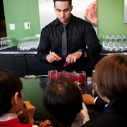 Bartender creating drinks at a San Francisco wedding reception by Destination wedding planner Mango Muse Events