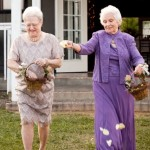 Grandmothers as flowers girls for a wedding