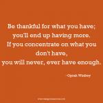 Oprah Winfrey thankful inspirational quote