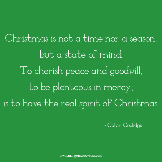The real spirit of Christmas inspirational quote