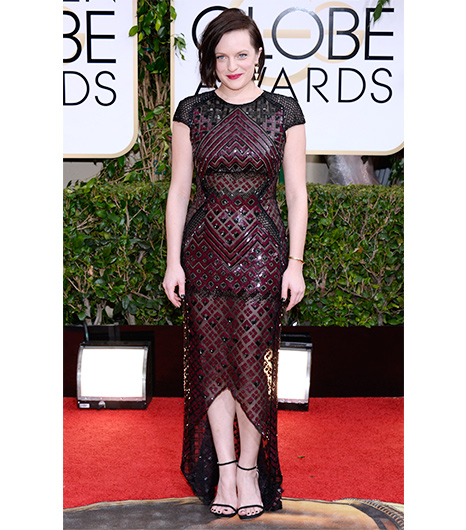 Elisabeth Moss on the red carpet 2014 Golden Globes wedding inspiration picks by Destination wedding planner Mango Muse Events