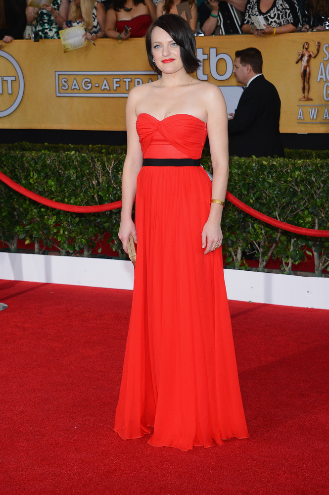 Elisabeth Moss on the red carpet 2014 SAG Awards wedding inspiration by Destination wedding planner Mango Muse Events