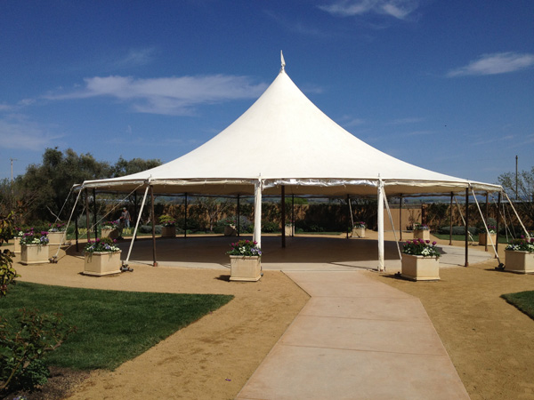 Wedding tent at the Cornerstone Sonoma wedding venue photo taken by Jamie Chang destination wedding planner of Mango Muse Events.