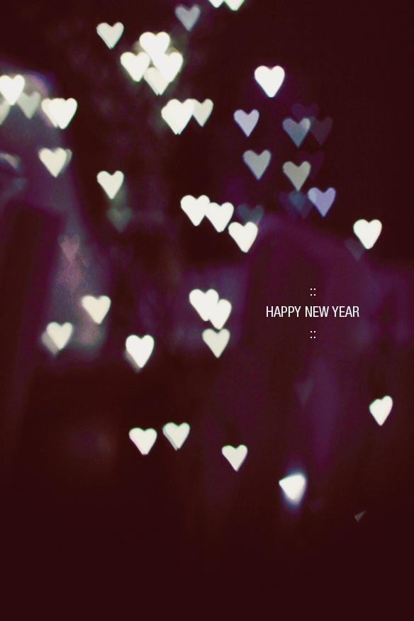 Happy New Year Heart Bokeh