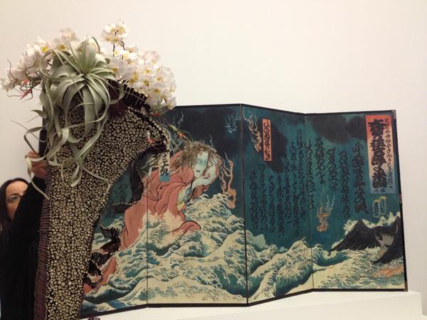 2014 Bouquets to Art Floral Kabuki painting interpretation.