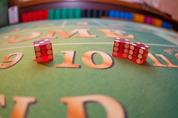 Casino games at Hawaii destination wedding reception by destination wedding planner Jamie Chang of Mango Muse Events.