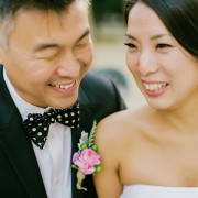 Newlyweds smiling after wedding ceremony planned by destination wedding planner Jamie Chang of Mango Muse Events.
