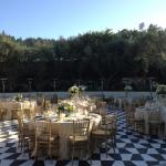 Catelli's event venue outdoor reception area in Geyserville