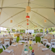 Wedding reception tables in a wedding tent at a Hawaii destination wedding designed by Destination wedding planner Mango Muse Events