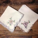 Vintage handkerchiefs for a vintage wedding