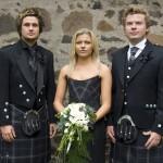 Scottish wedding party.