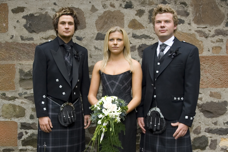 Scottish wedding party for a Scotland wedding