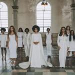 Solange Knowles white wedding dress at her destination wedding New Orleans.
