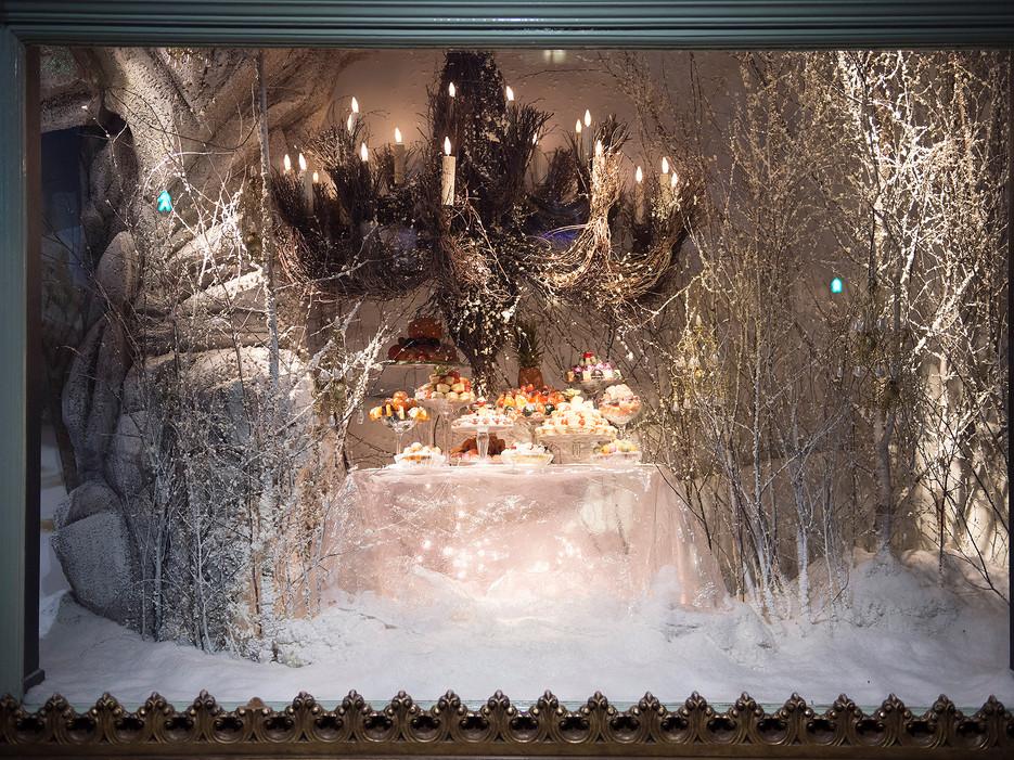 2014 Christmas window displays at Fortnum & Mason in London.